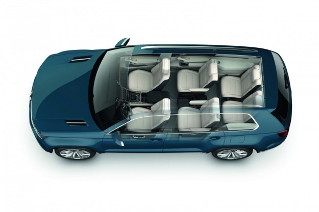 volkswagen crossblue il suv sette posti in produzione nel. Black Bedroom Furniture Sets. Home Design Ideas